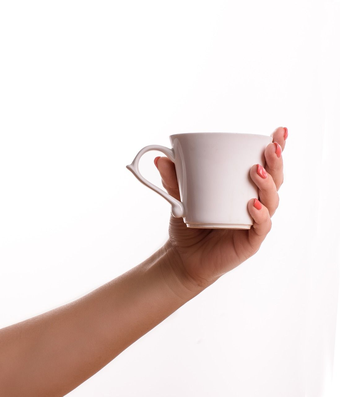 Coffee White Background Cup Coffee Hand Coffee Whitebackground Cup Coffee Hand Blended Coffee Glassware Great Coffee
