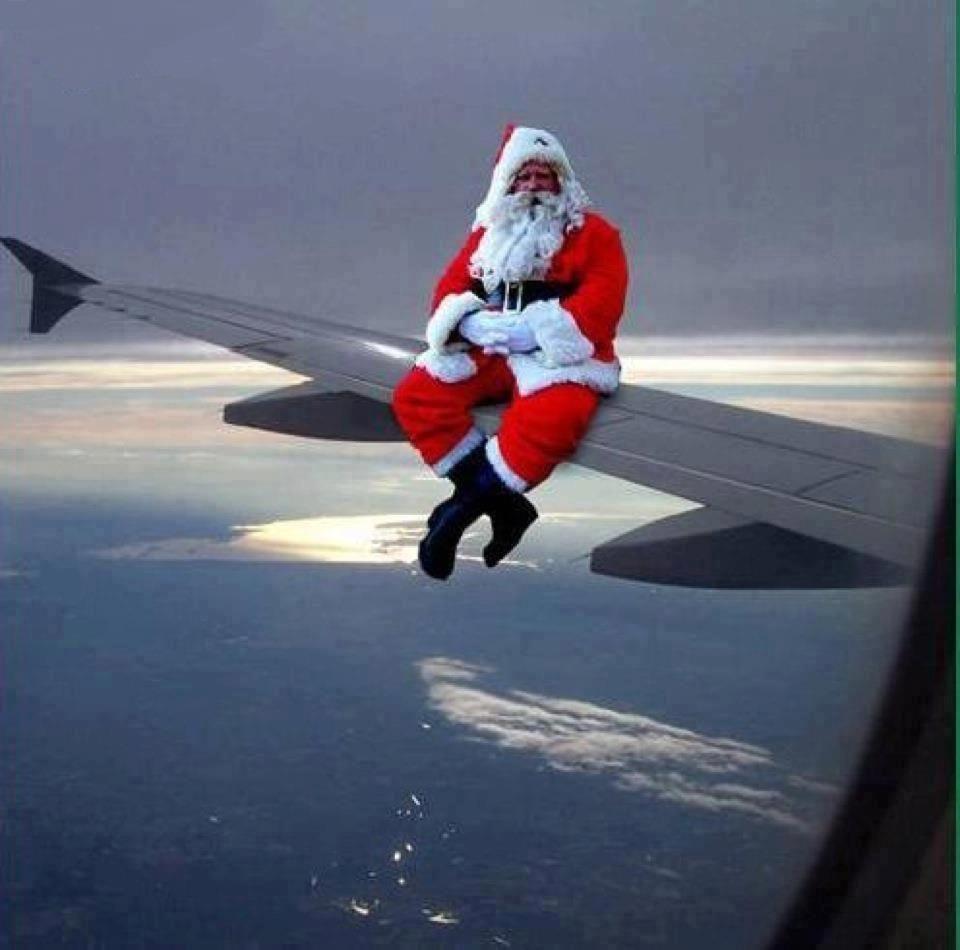 christmas santa claus airplane aviation fun pinterest