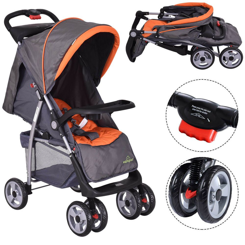 Details about Foldable Baby Kids Travel Stroller Newborn