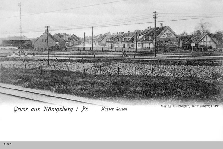Konigsberg Nasser Garten Eisenbahn Ostpreussen Bilder Preussen