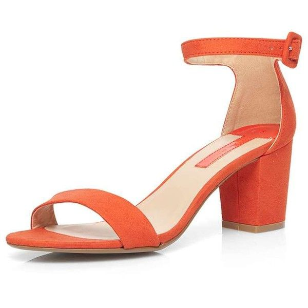 741b13ce213 Dorothy Perkins Orange 'Rocco' Sandals ($44) ❤ liked on Polyvore ...