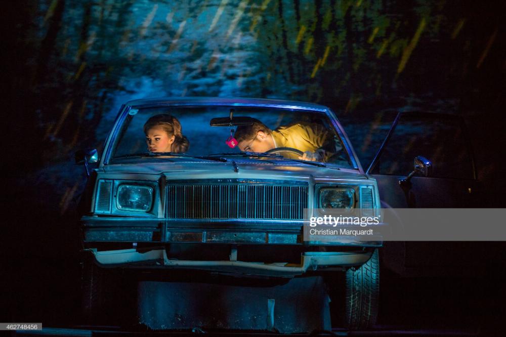 Harriet Bunton Janet And David Ribi Brad Perform On Stage During Rocky Horror Horror Show European Tour
