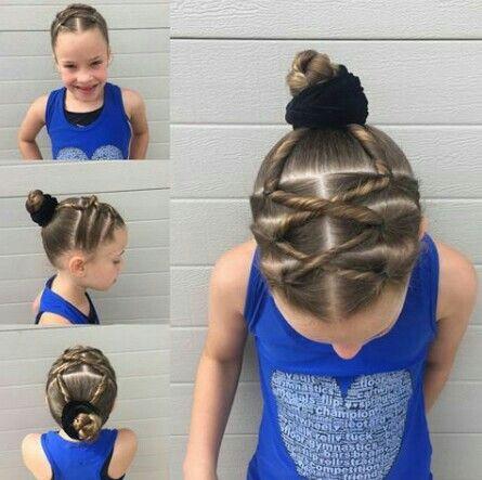 Gymnastics hair | Gymnastics hair, Gymnastics meet hair ...