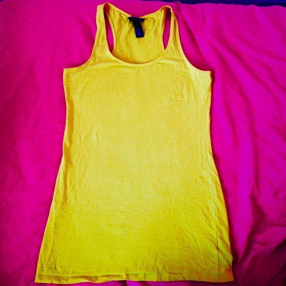 Yellow Tank Basic yellow tank, long, very comfortable, worn twice, good condition H&M Tops Tank Tops