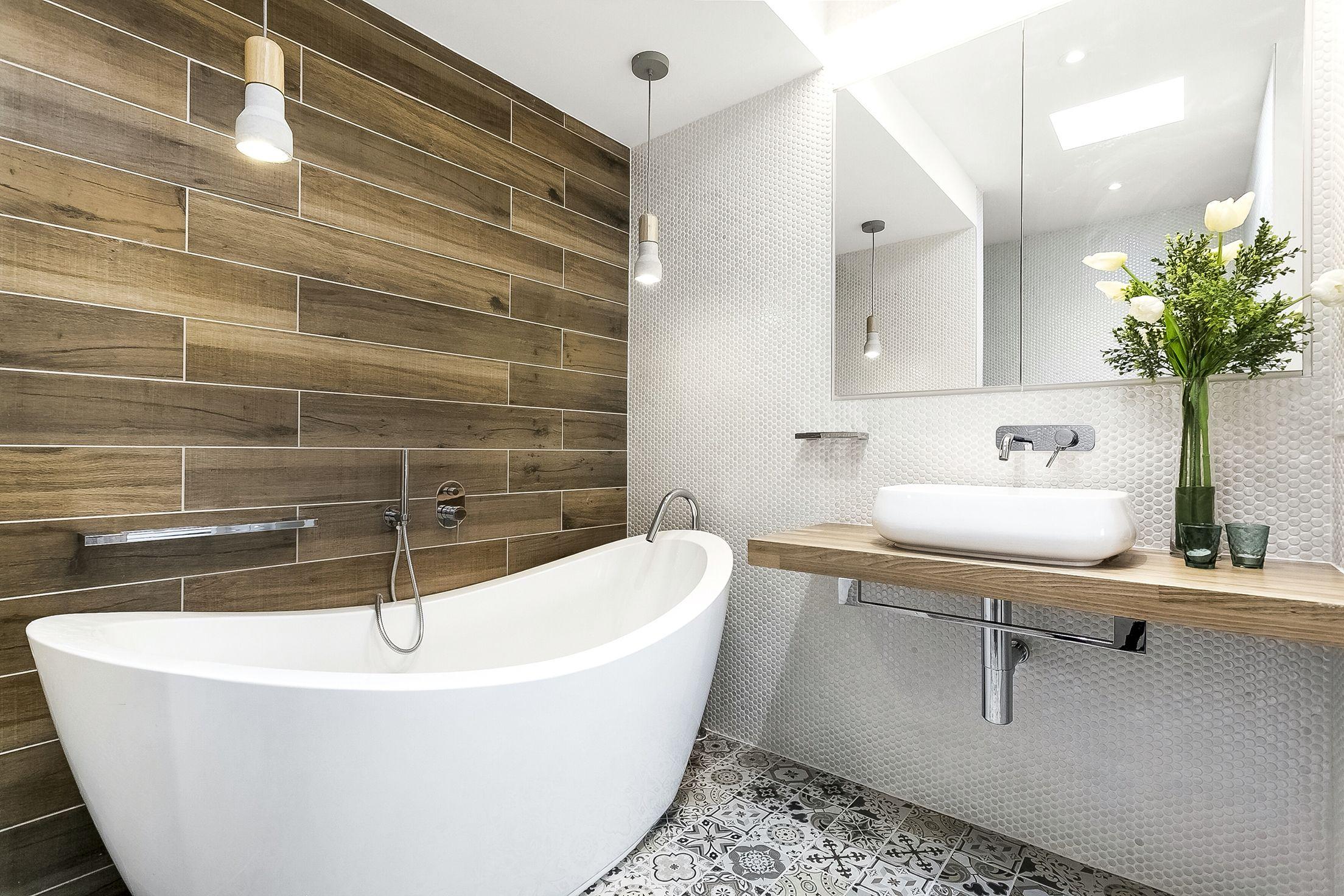 My modern rustic bathroom designed by me!, amazing freestanding ...
