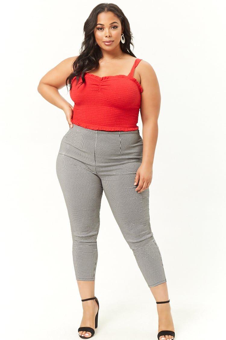 e71d94bc1bb Plus Size Crop Top   Flare Pants Set