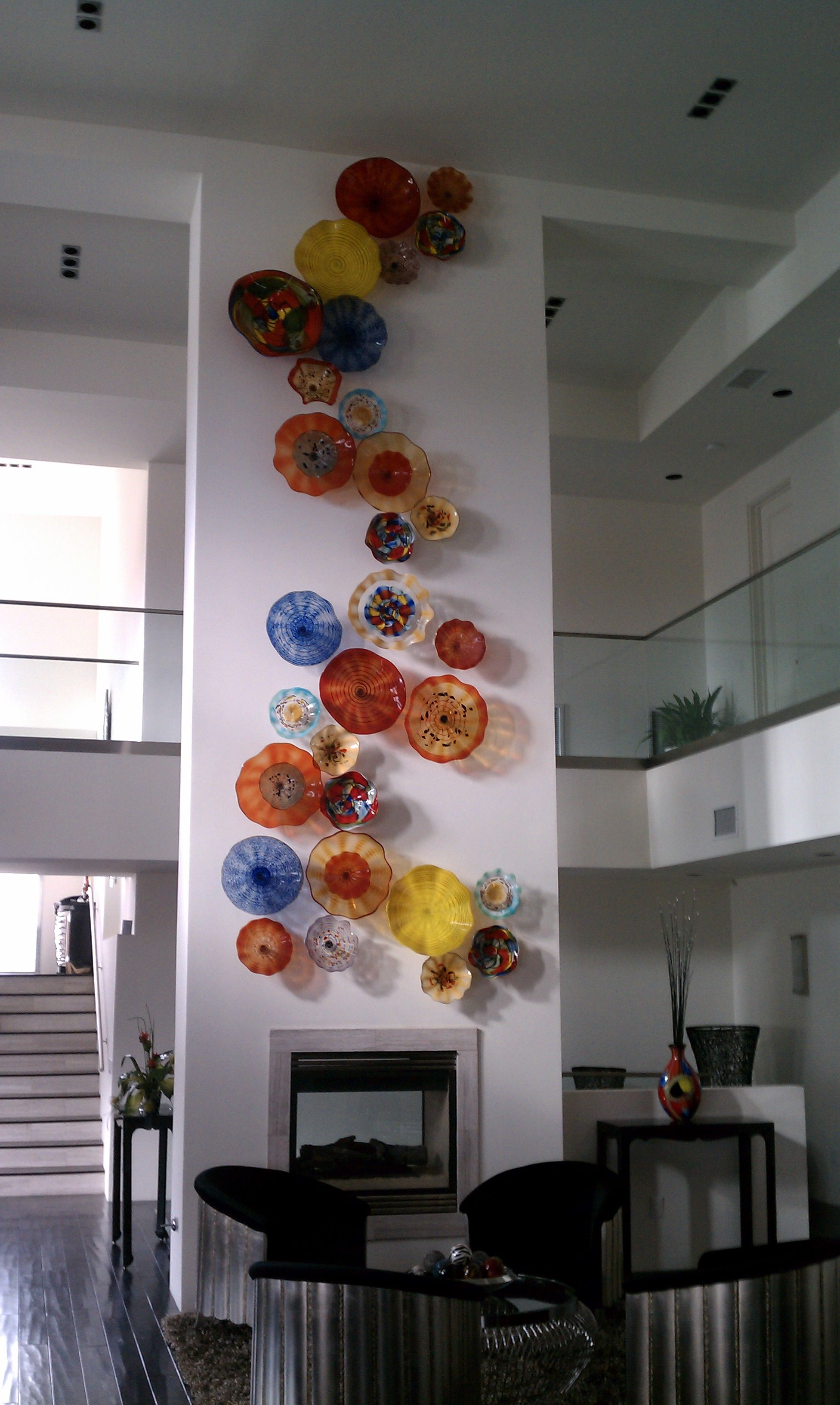 These Glass Hand Blown Pieces Are Sure To Make A Statement In Any Room Blown Glass Wall Art Glass Wall Art Stained Glass Art