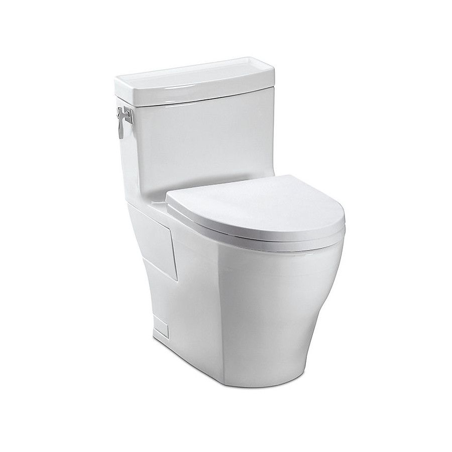 Toto MS626214CEFG#01 Aimes 4.8L One-Piece ADA Elongated Toilet ...