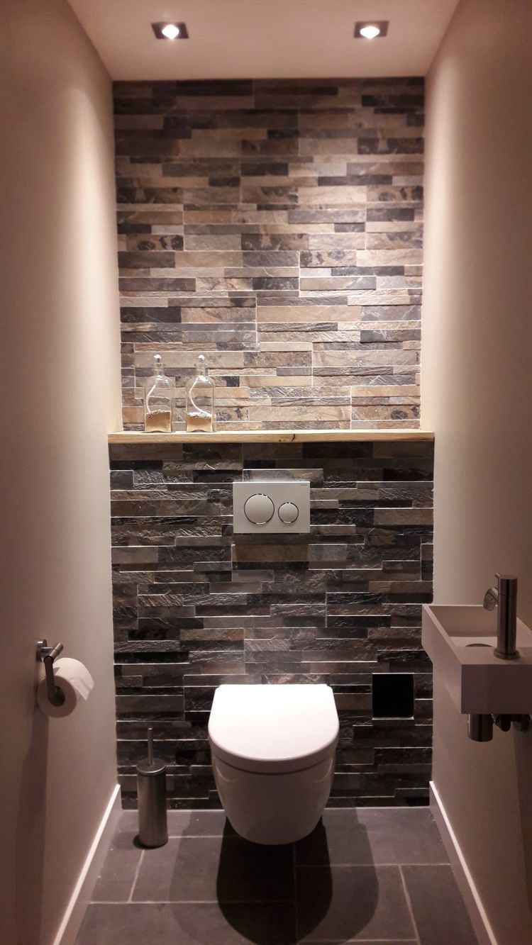 Wc Sous Escalier Feng Shui 20 idées pour le revêtement mural de ses toilettes | idée