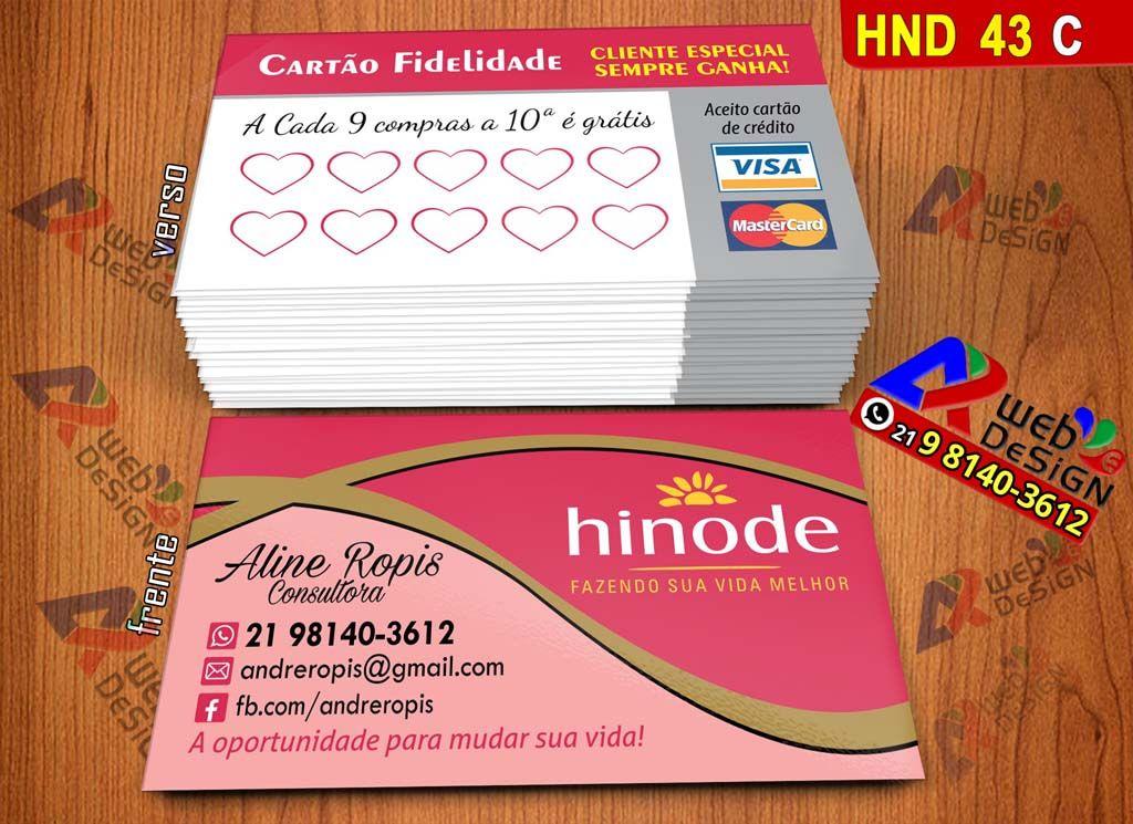 Cartao De Visita Grupo Hinode Hnd43 C Com Imagens Modelos De