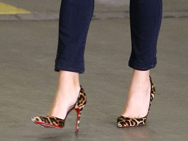 the best attitude ef983 9c12b Reese Witherspoon Christian Louboutin Iriza Leopard Pumps ...