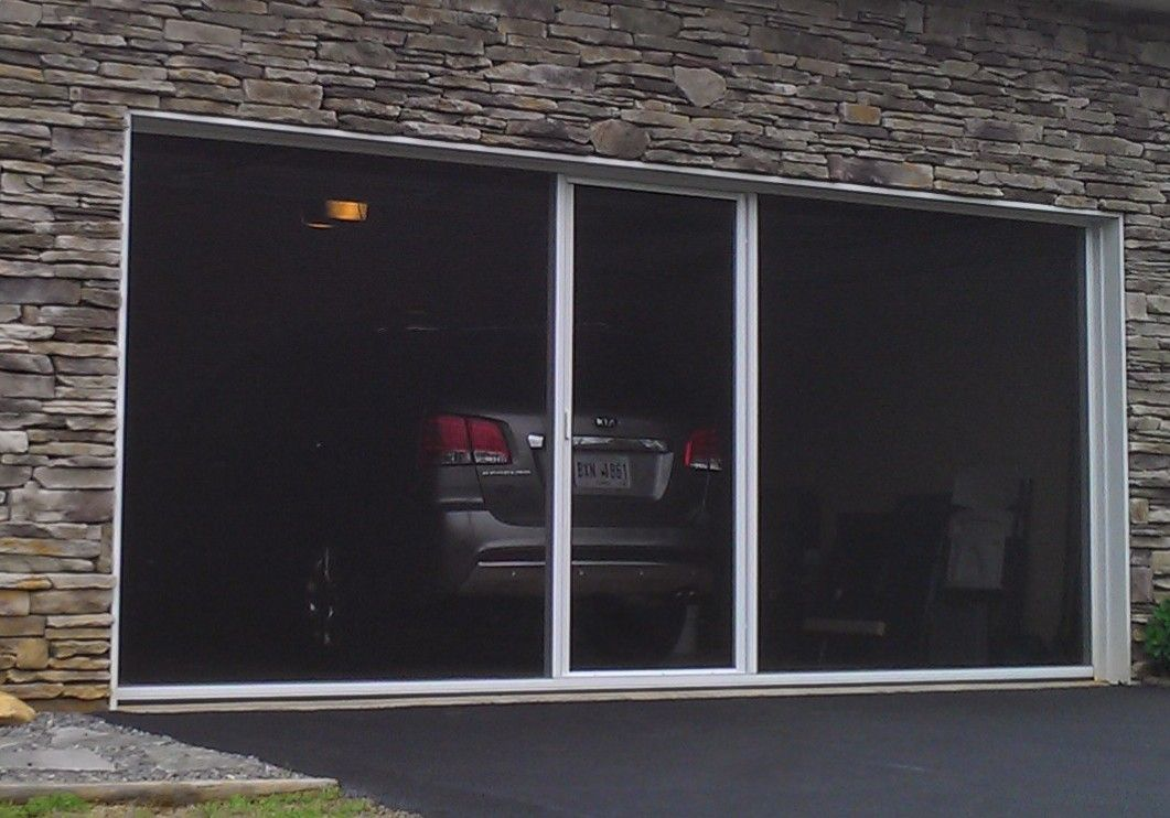 A Screen Door For Your Garage Lifestyle Garage Screen System Is A