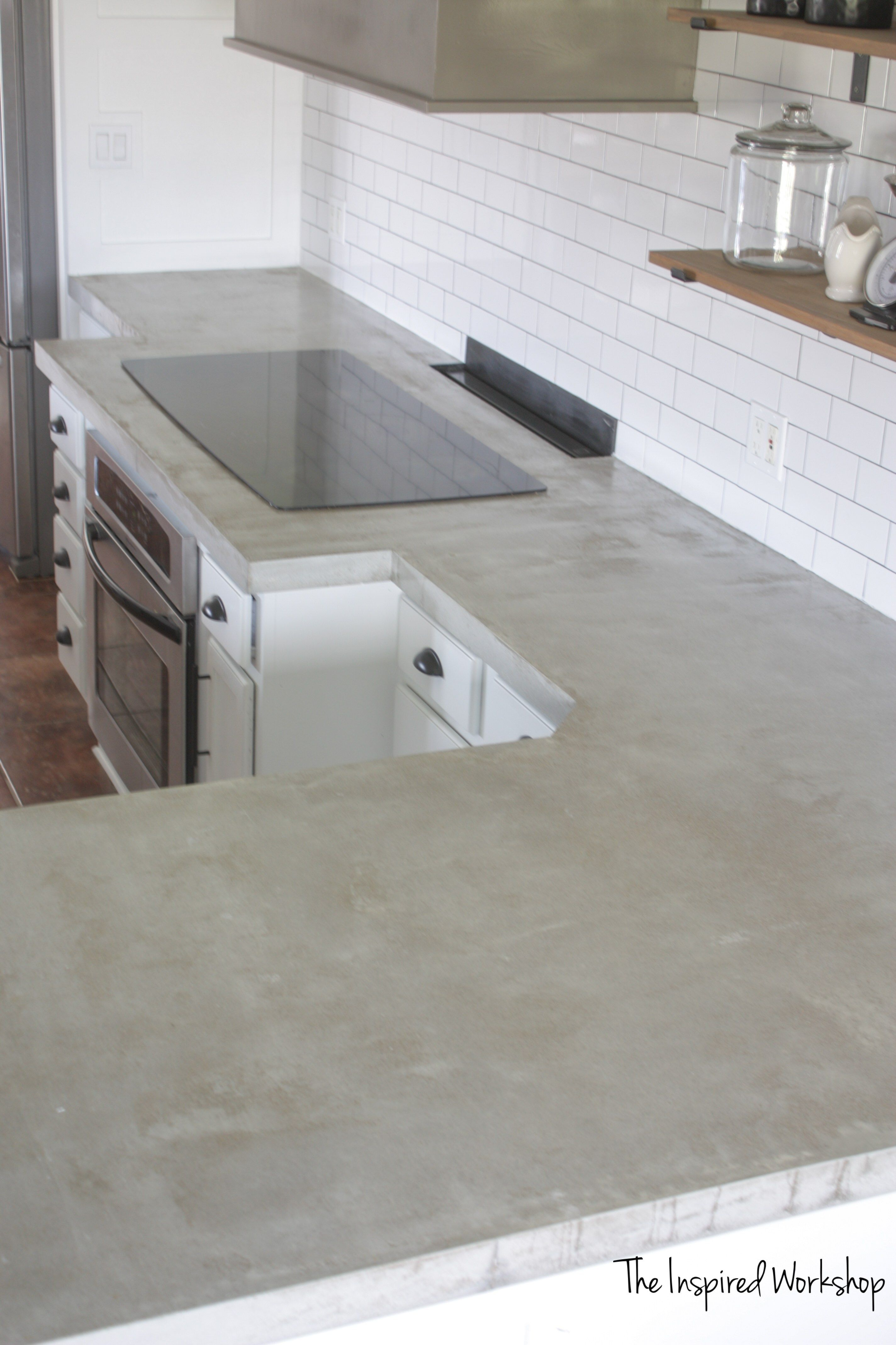 Diy Concrete Countertops Pour In Place Concrete Countertops