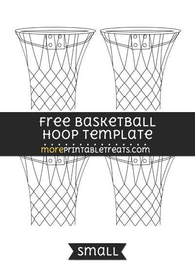 Free Basketball Hoop Template - Small Shapes and Templates