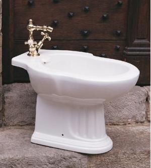 This classicly styled bidet by Herbeau 050410 comes in 16 different colors and patterns. You will certainly find one to match your decor. www.faucettrends.com.