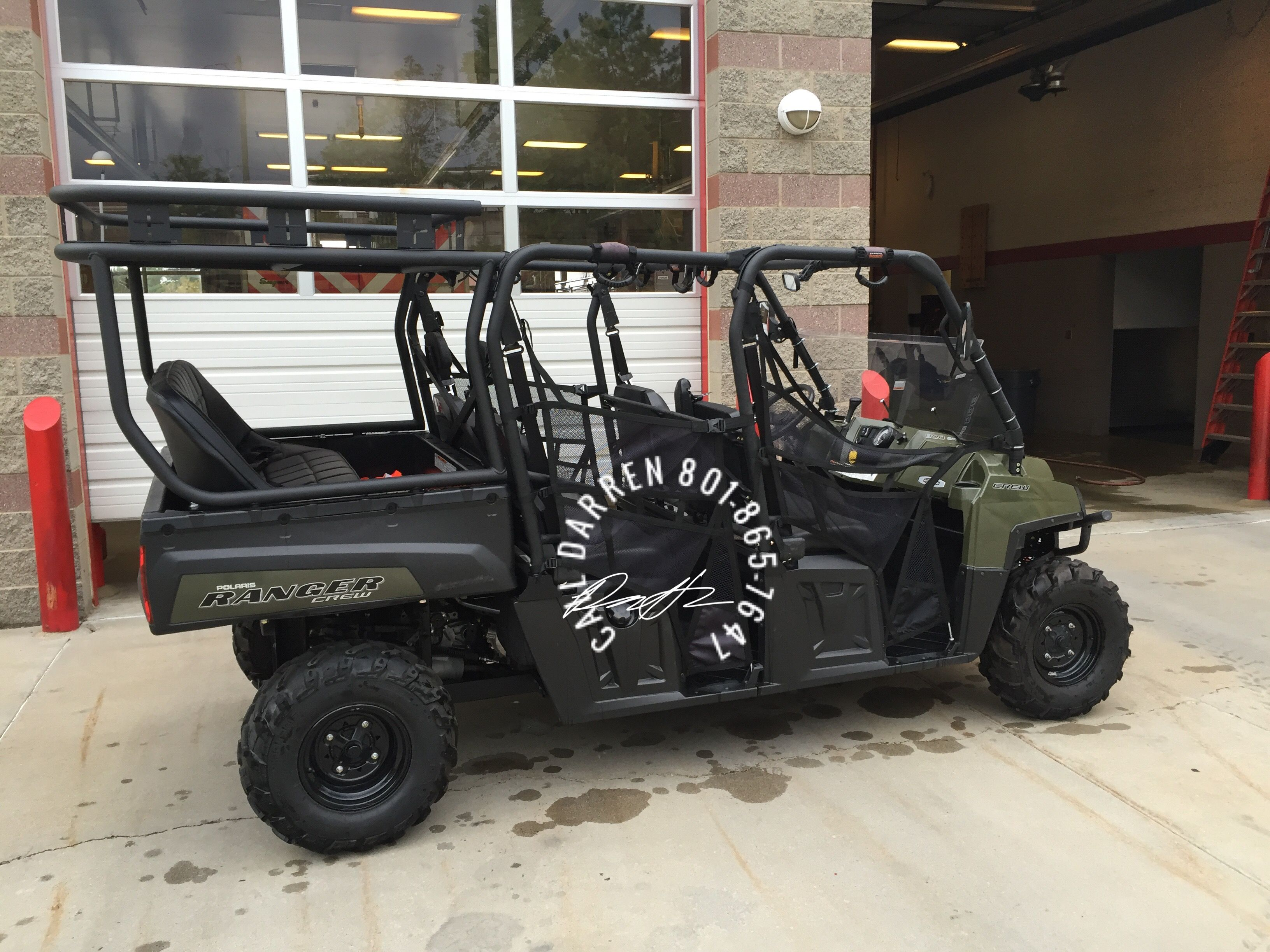 Polaris Ranger 800 Crew Cab Roll Cage U0026 Seat Package With Aluminum Roof An  Safari Rack