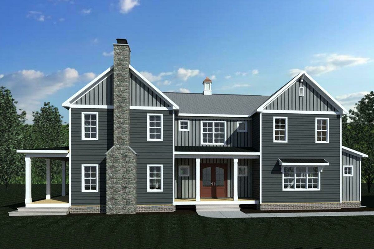 Plan 83610CRW: Exclusive Farmhouse Plan with Rear Wrap-Around Porch