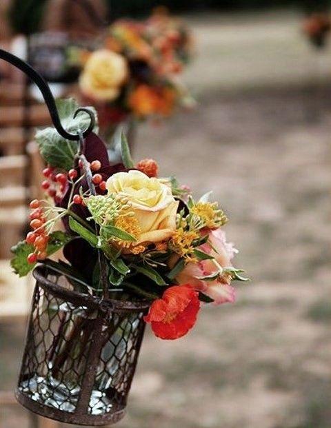 57 Fall Wedding Aisle Decor Ideas   HappyWedd.com