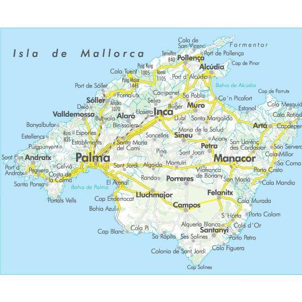 Mallorca map Mallorca Pinterest Majorca Spain and Summer travel