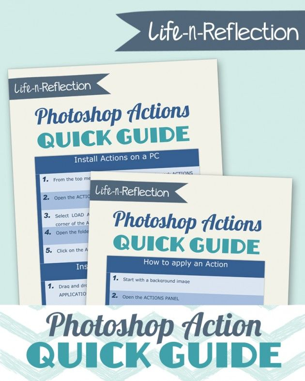 Photoshop Action Quick Guide
