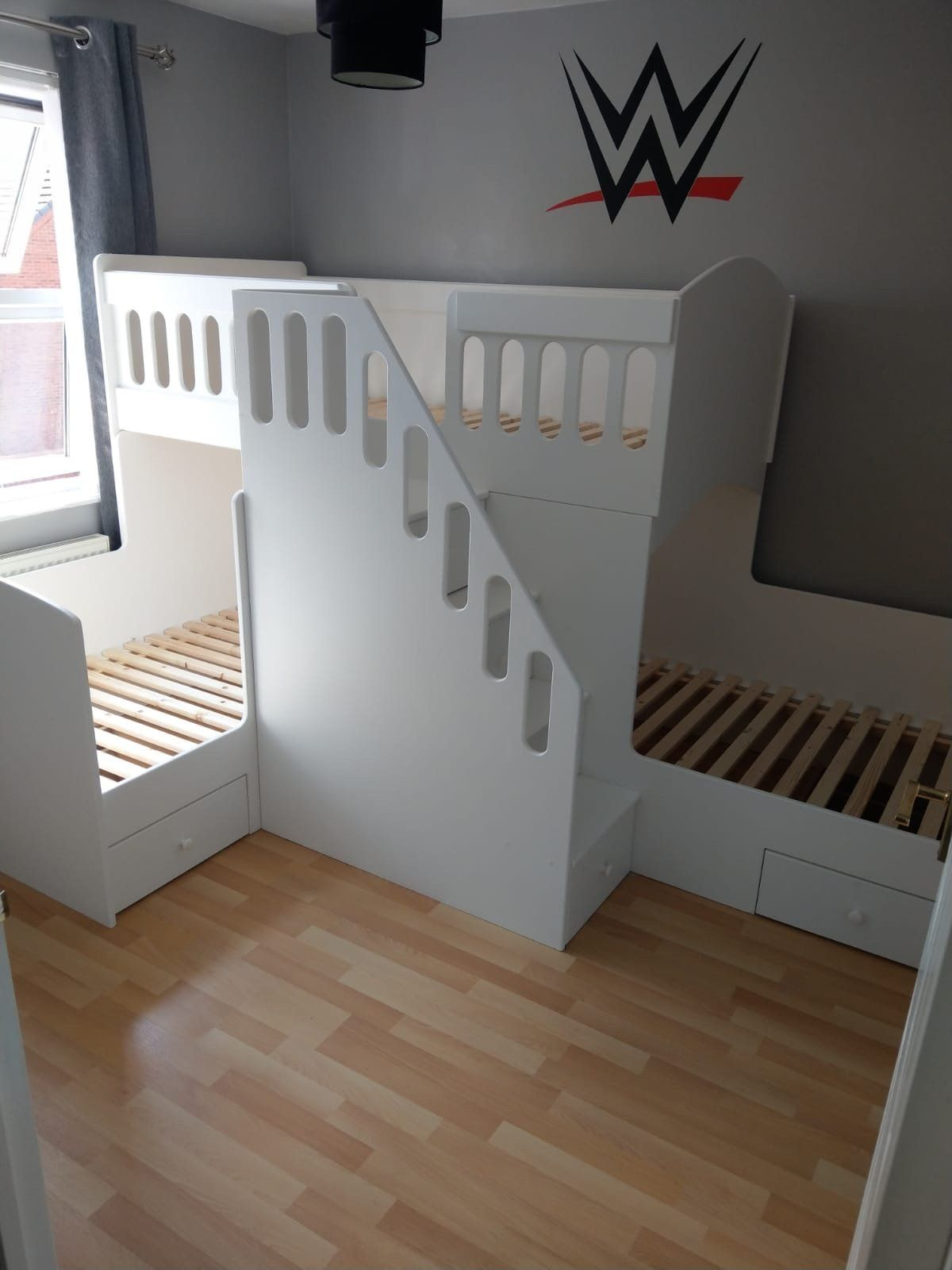 L Shaped Triple Bunk Bed in 2020 Triple bunk bed