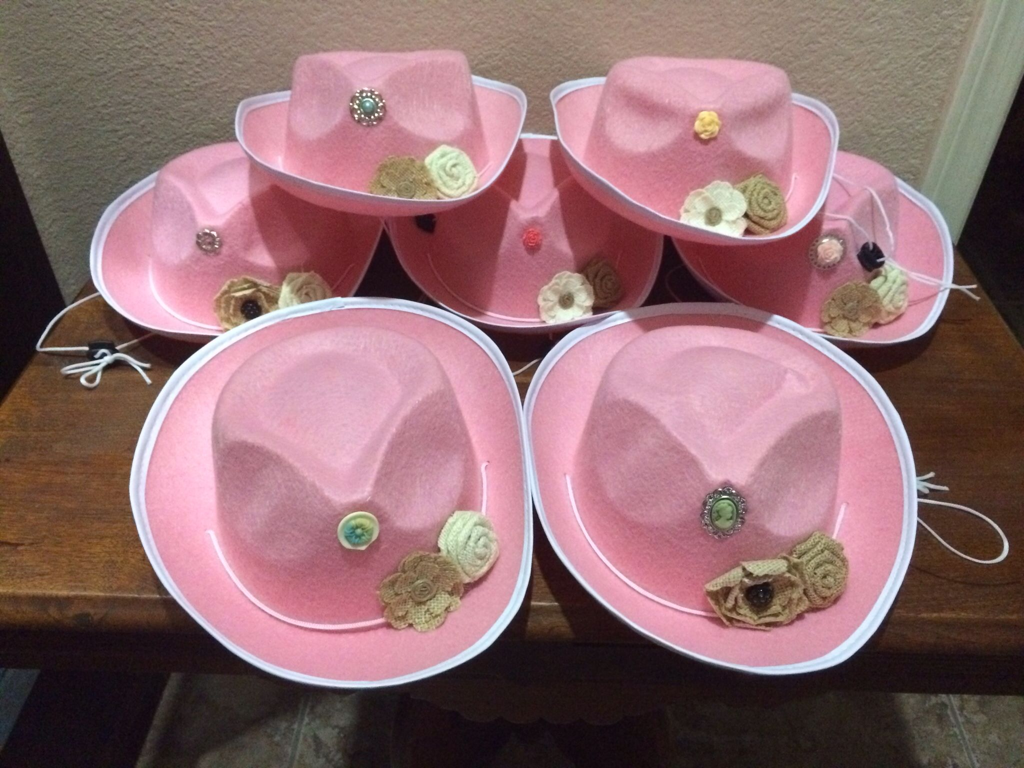 Cheap pink cowgirl hats from oriental trading stars removed and cheap pink cowgirl hats from oriental trading stars removed and vintage adornments with burlap flowers izmirmasajfo