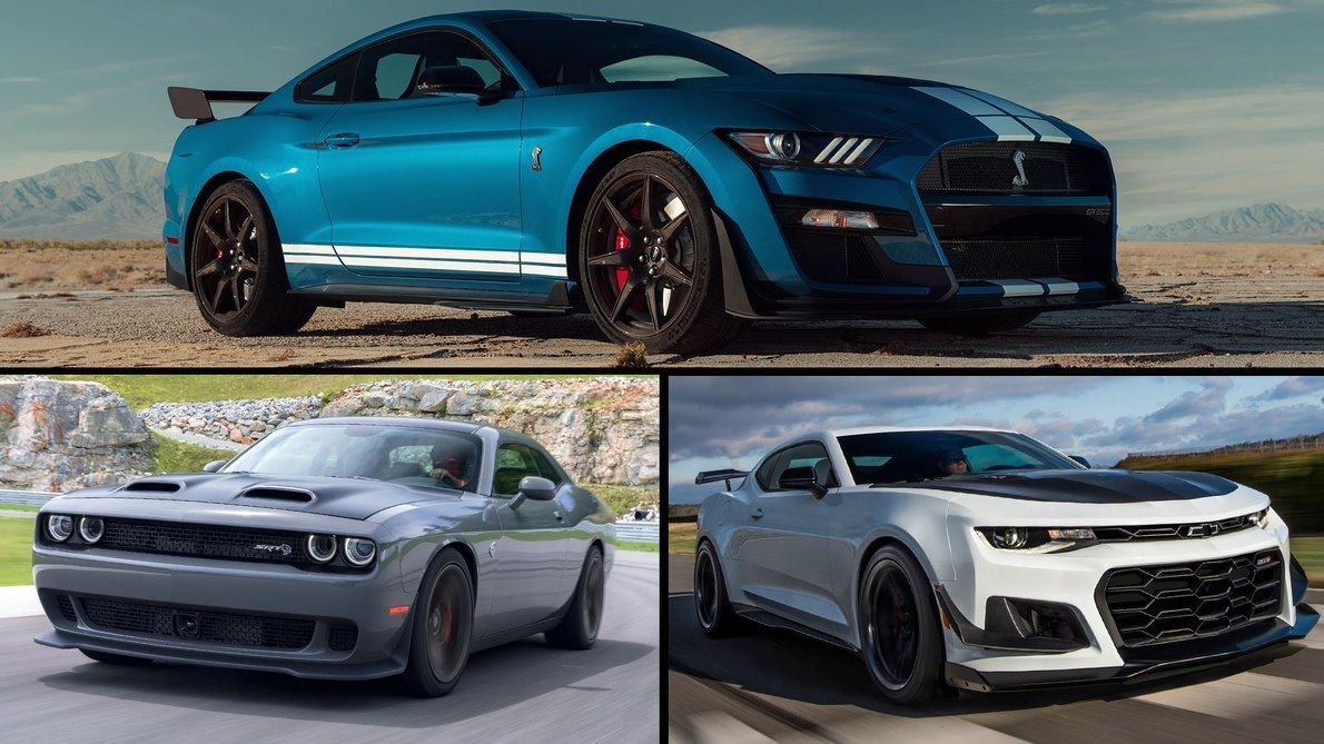 Specs Check 2020 Ford Mustang Shelby Gt500 Vs Camaro Zl1 Challenger Hellcat Motor Trend Ford Mustang Shelby Mustang Shelby Camaro Vs Mustang
