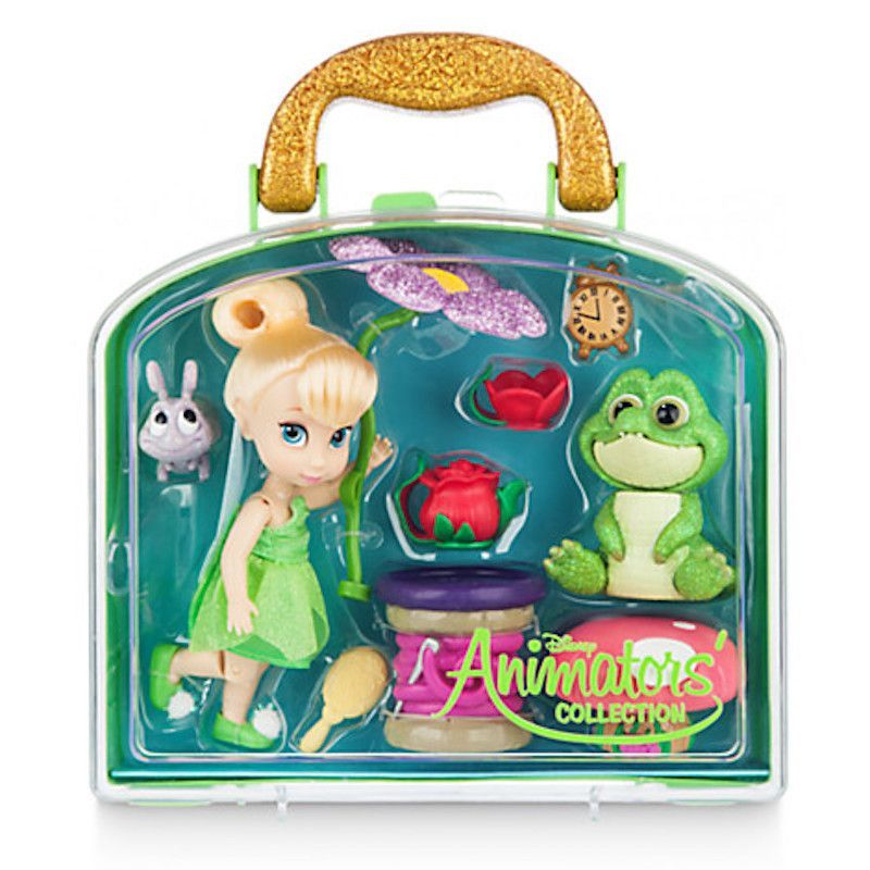 b2f306e80b7 Disney Animators  Collection Tinker Bell Mini Doll Play Set New with Case