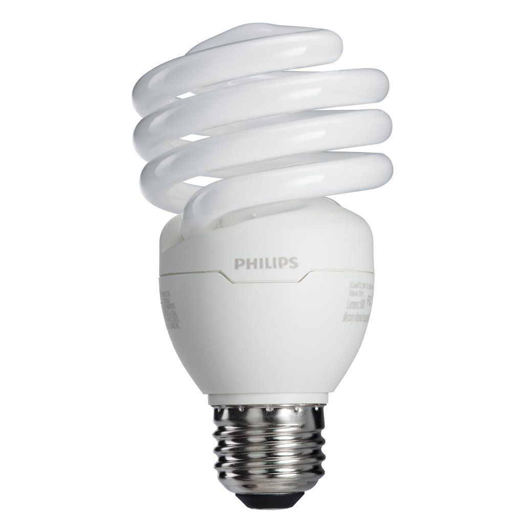 Philips 433557 100 Watt Equivalent Bright White 6500k 23 Watt Spiral Cfl Light Bulb 4 Pack Energy Saving Light Bulbs Fluorescent Light Bulb Light Bulb