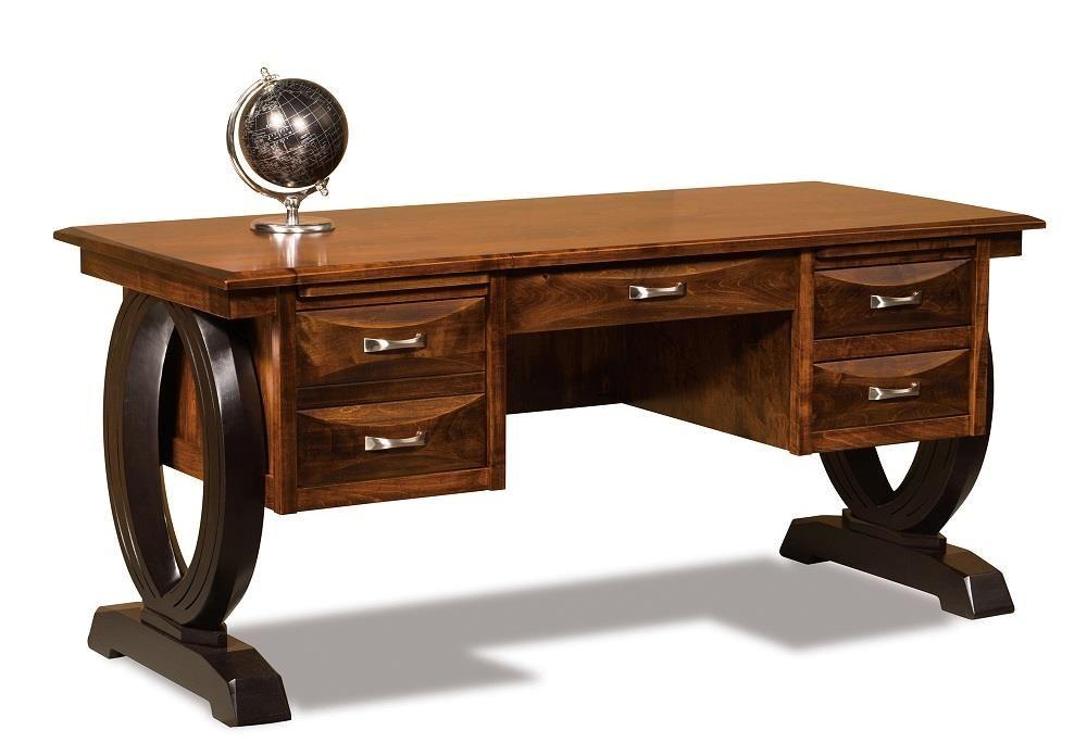 Amish Handcrafted Saratoga Writing Desk Solid Wood Writing Desk