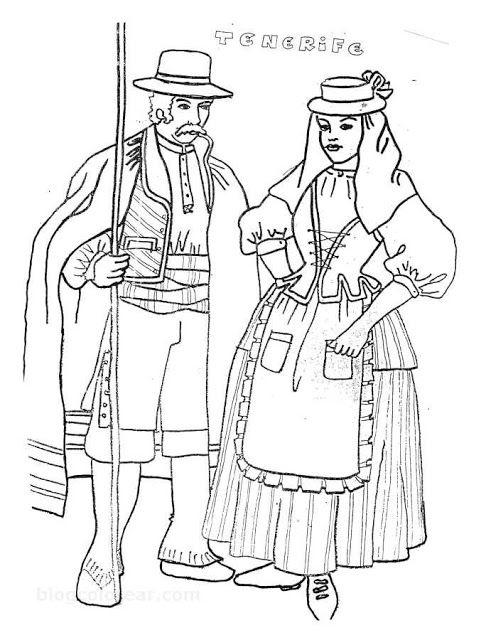 Dibujos del día de canarias | Folk | Sketches