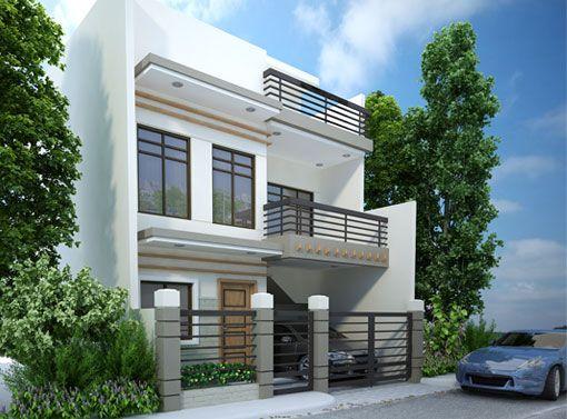 Modern House Designs Series Mhd 2012007 Pinoy Eplans Bungalow House Design House Design Pictures 2 Storey House Design