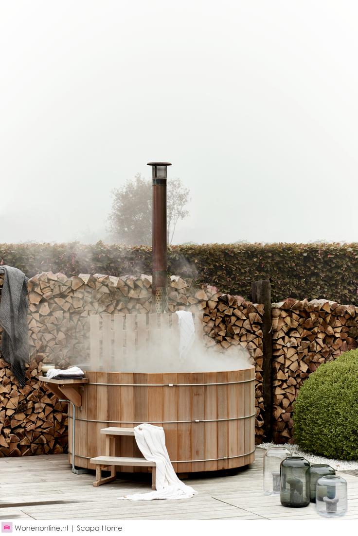 Gartensauna Gemauert In 2020 Cedar Hot Tub Outdoor Gardens Outdoor Baths
