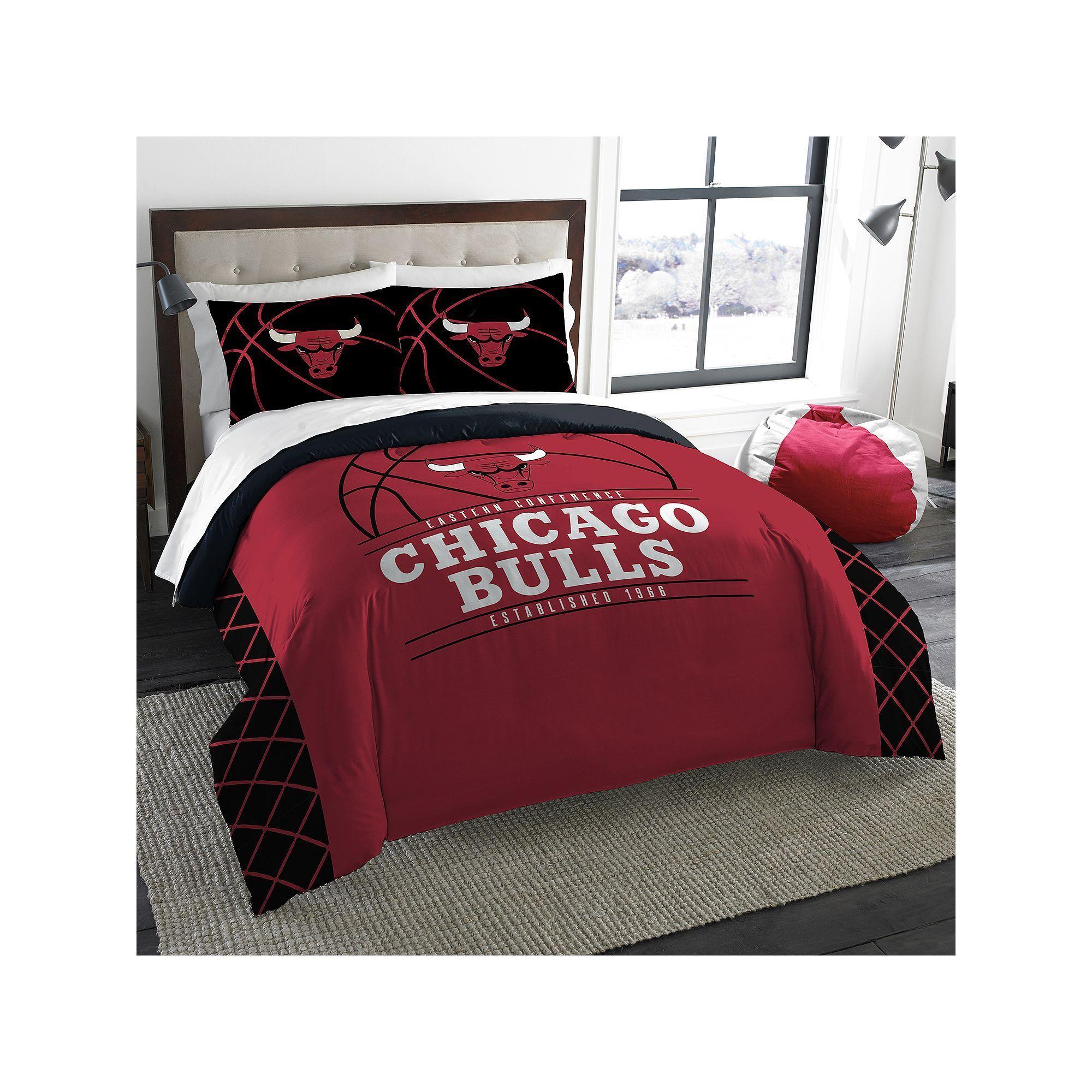Chicago bulls reverse slam fullqueen comforter set by