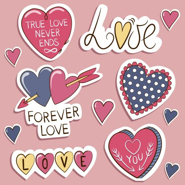 Love Labels Collection 2 Scrapbook Stickers Love