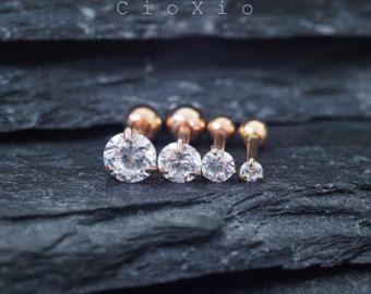 Crystal Star Triple Helix Earring Cartilage door MidnightsMojo