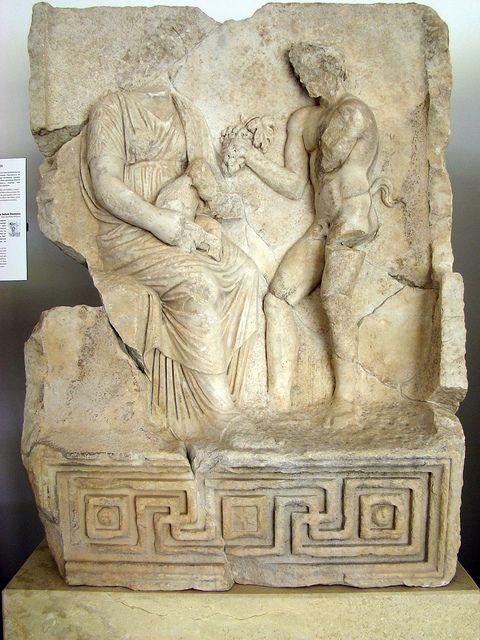 Sebasteion, Nysa and the Infant Dionysos.    Aphrodisias Museum.