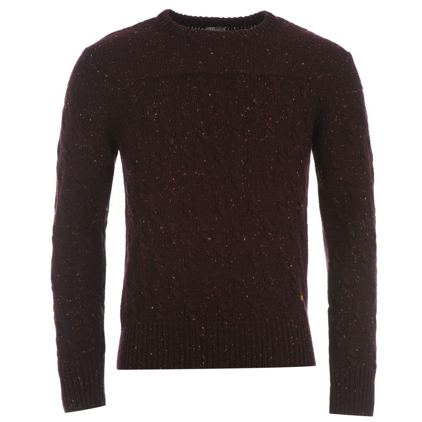 Firetrap | Firetrap Cable Knit Jumper Mens | Mens Sweatshirts