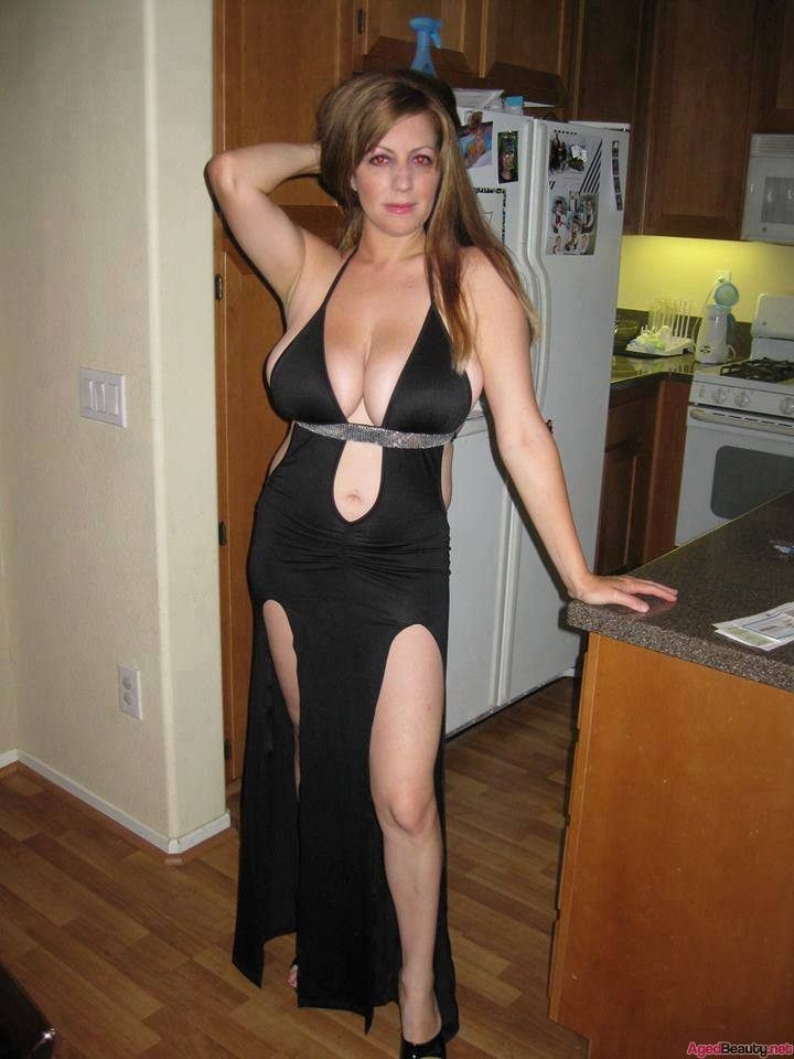 Milf in a dress