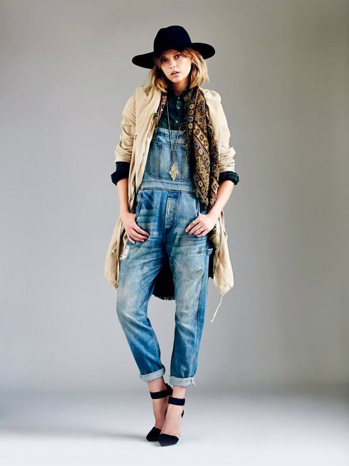 ::cool idea to wear overalls during fall_Free people::
