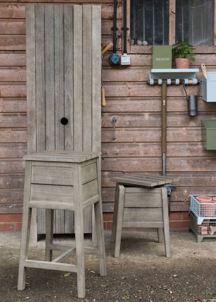 Weathered wood storage stool