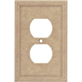 Lowes Wall Plates Extraordinary Shop Somerset Collection 1Gang Sienna Standard Duplex Receptacle Design Ideas