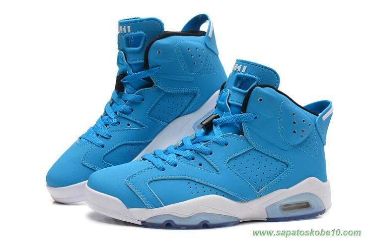 azul branco 205335 484 air jordan 6 retro