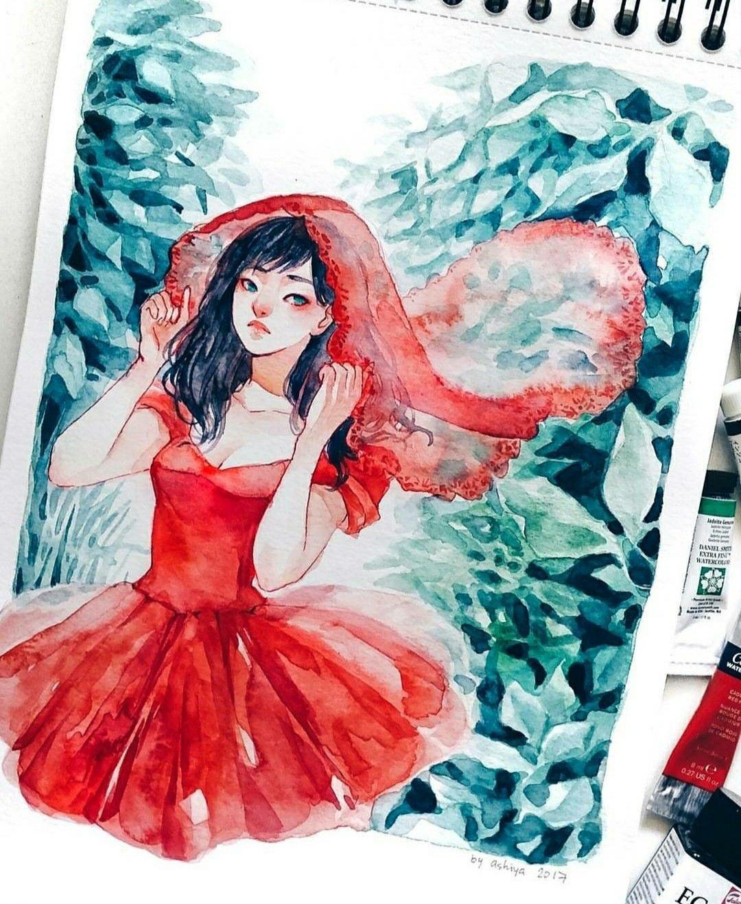 Art By Ashiyaart Dessin Aquarelle Canson