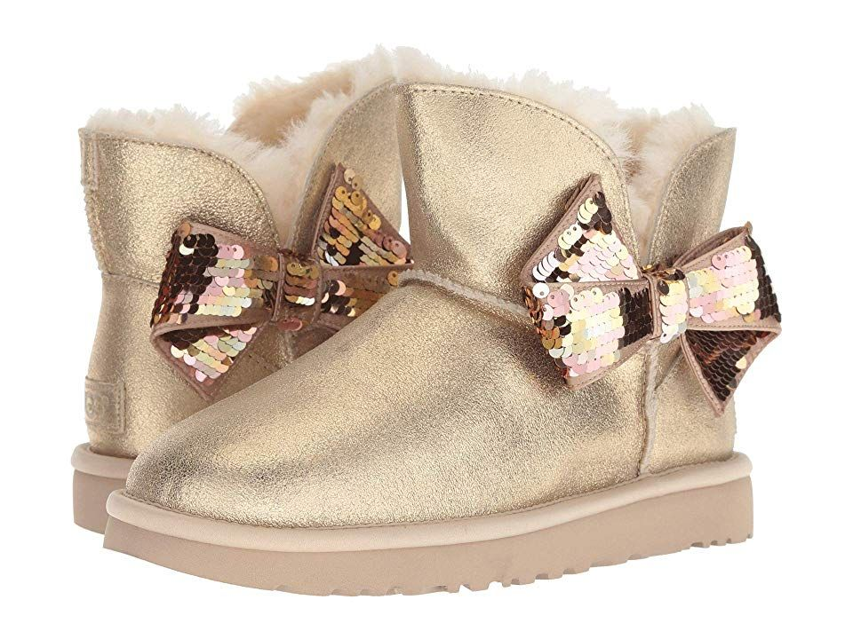 0ae4b8d9e20 UGG Mini Sequin Bow (Gold) Women's Pull-on Boots. Make sure your ...