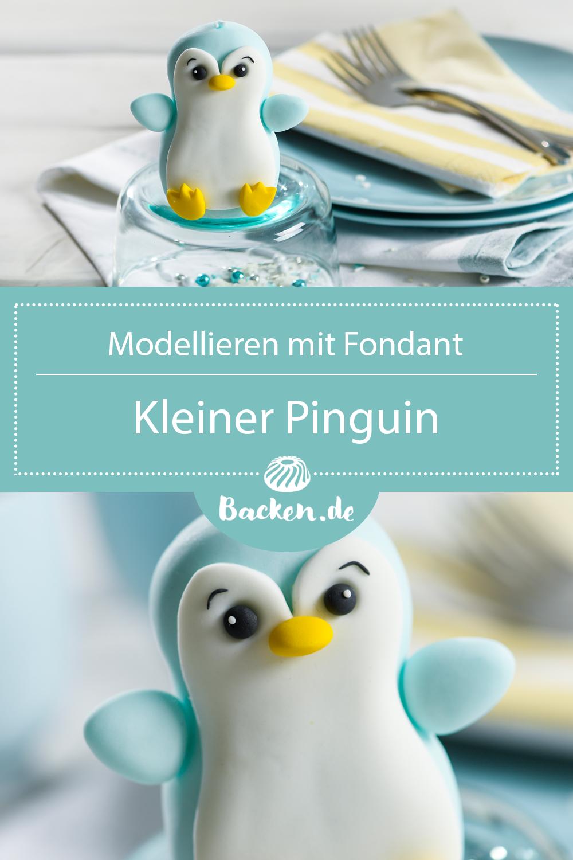 Pinguin aus Fondant modellieren   Backen.de