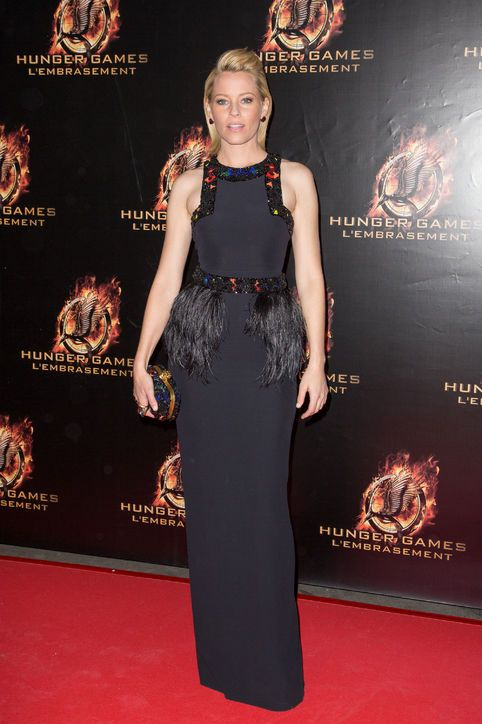 The Hunger Games: Catching Fire: See Elizabeth Banks' Red Carpet Premiere Dresses: Dressed