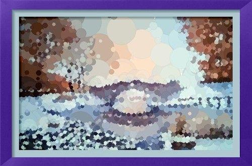 Dessin et peinture vid o 2229 paysage d 39 hiver la - Dessiner un paysage d hiver ...