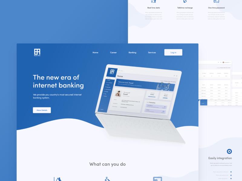 Bank Asia Internet Banking Landing Page By Rajib Raju Dribbble App Design Bank Banking Webdesign Bankwebsite Da In 2020 Landing Page Banking Web Design