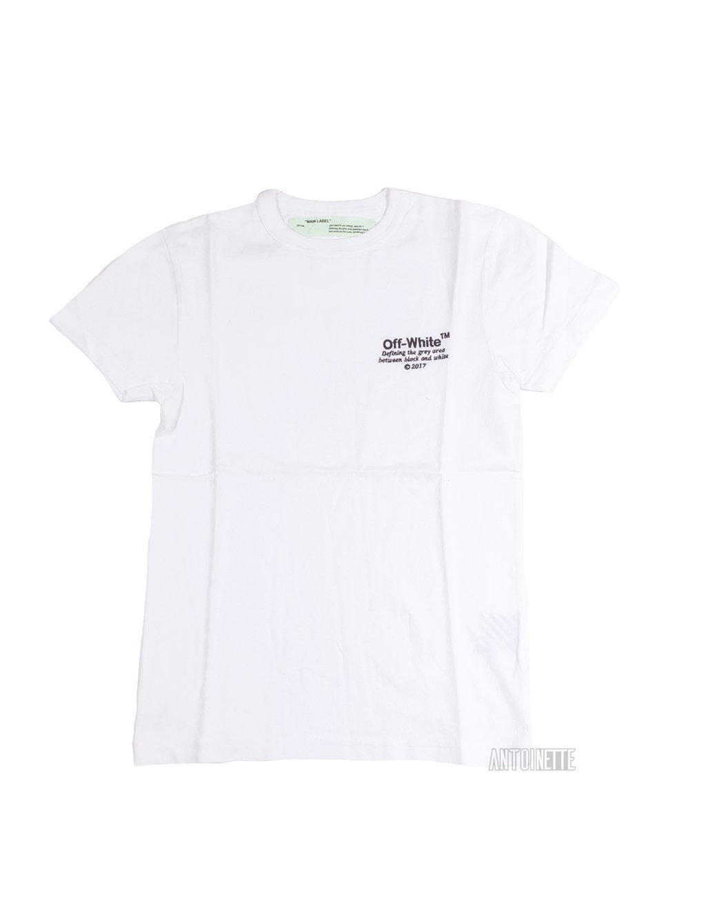 Off White White Embroidered Logo T Shirt Shirts Mens Tops Off